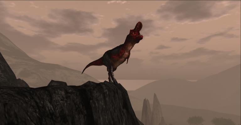 T-Rex Cliff Roar Fullscreen